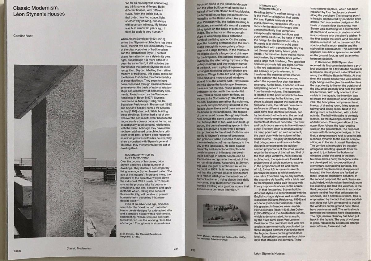 2018 1011 CVOET Leon Stynen Classic Modernism Pagina 1